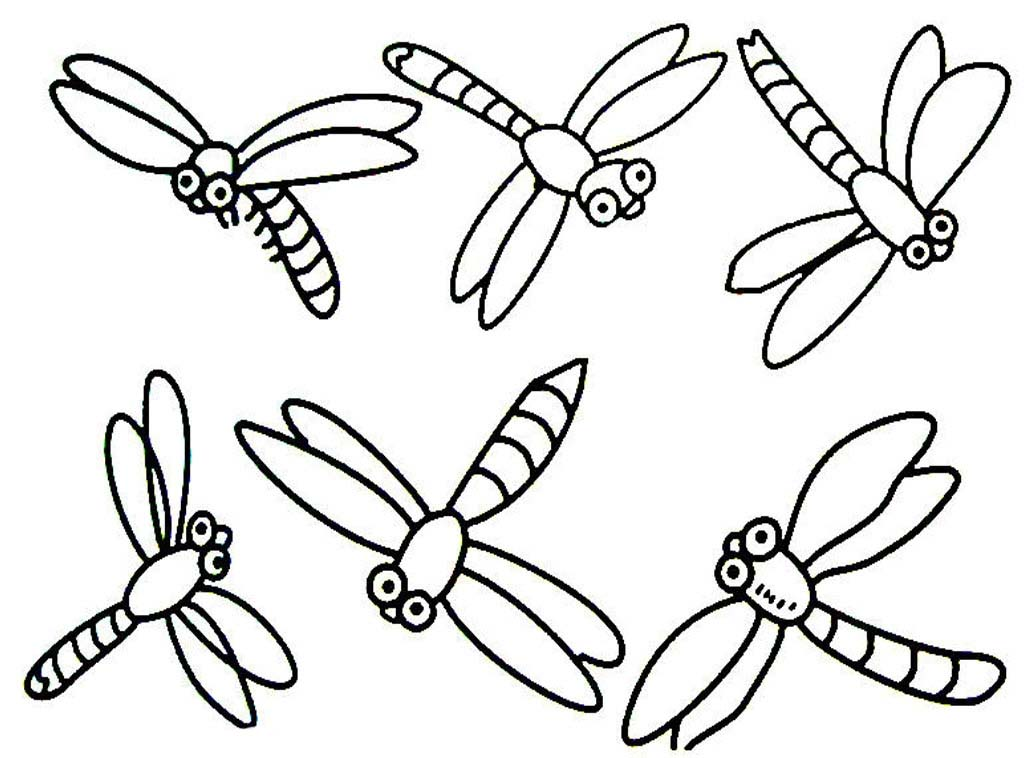 Dragonfly coloring #13, Download drawings