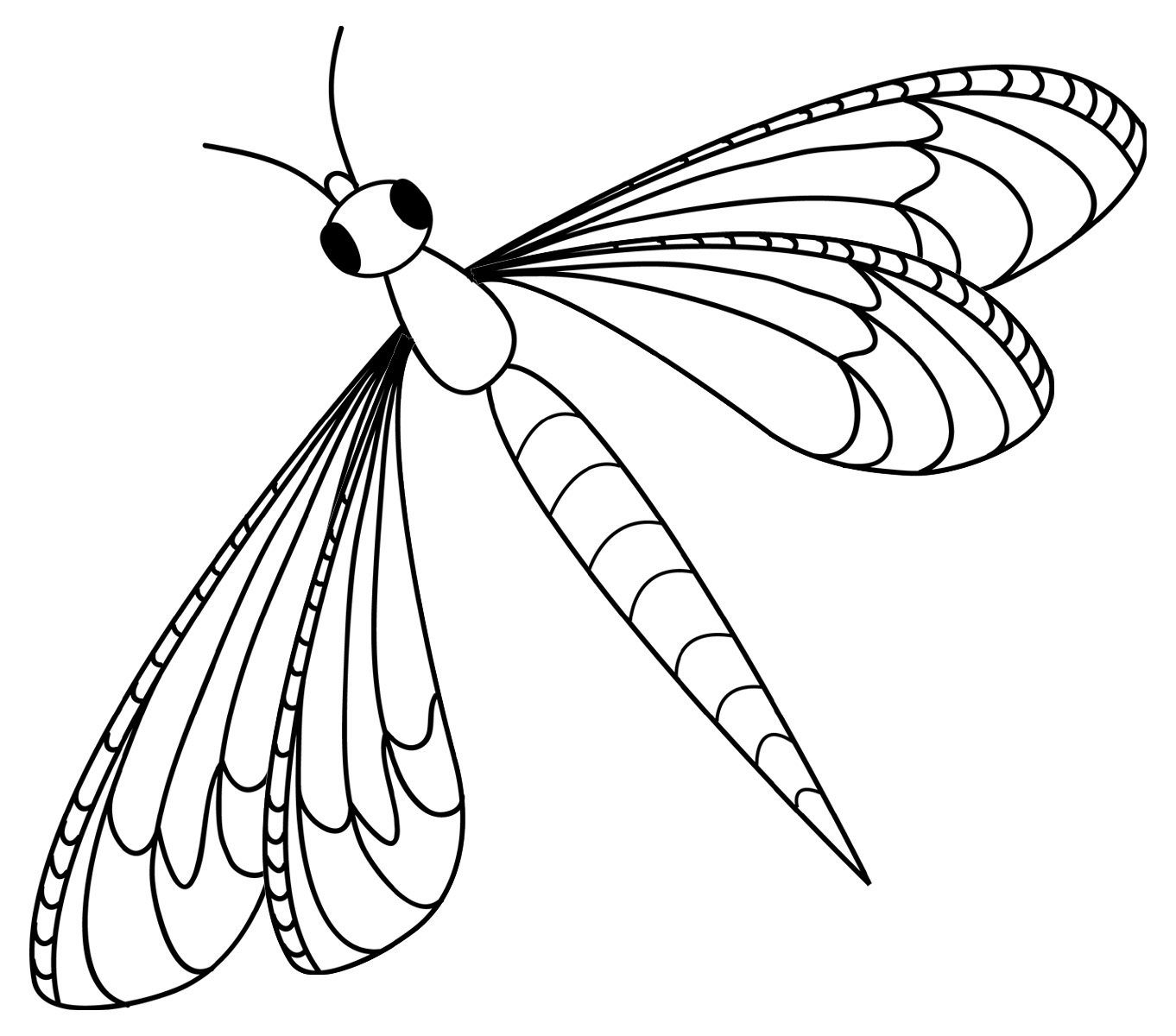 Dragonfly coloring #19, Download drawings