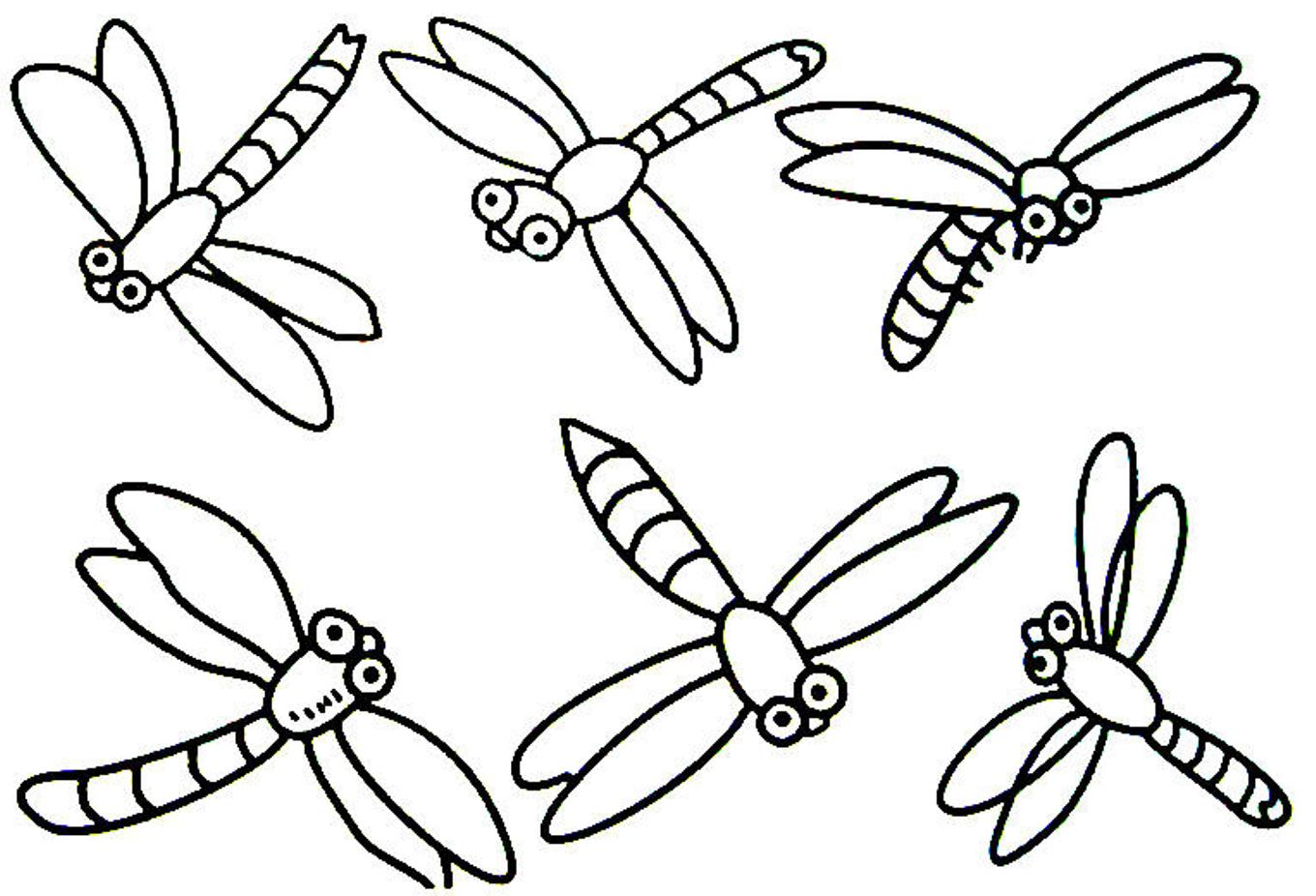 Dragonfly coloring #4, Download drawings