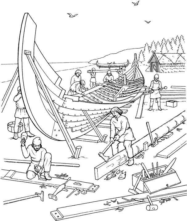 Drakkar coloring #3, Download drawings