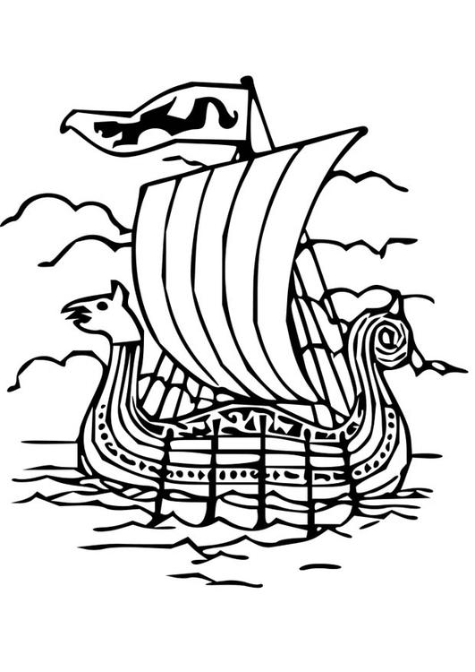 Drakkar coloring #17, Download drawings