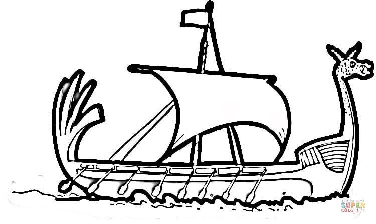 Drakkar coloring #19, Download drawings