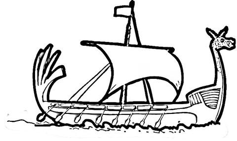 Drakkar coloring #16, Download drawings