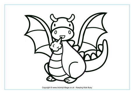 Draon coloring #15, Download drawings