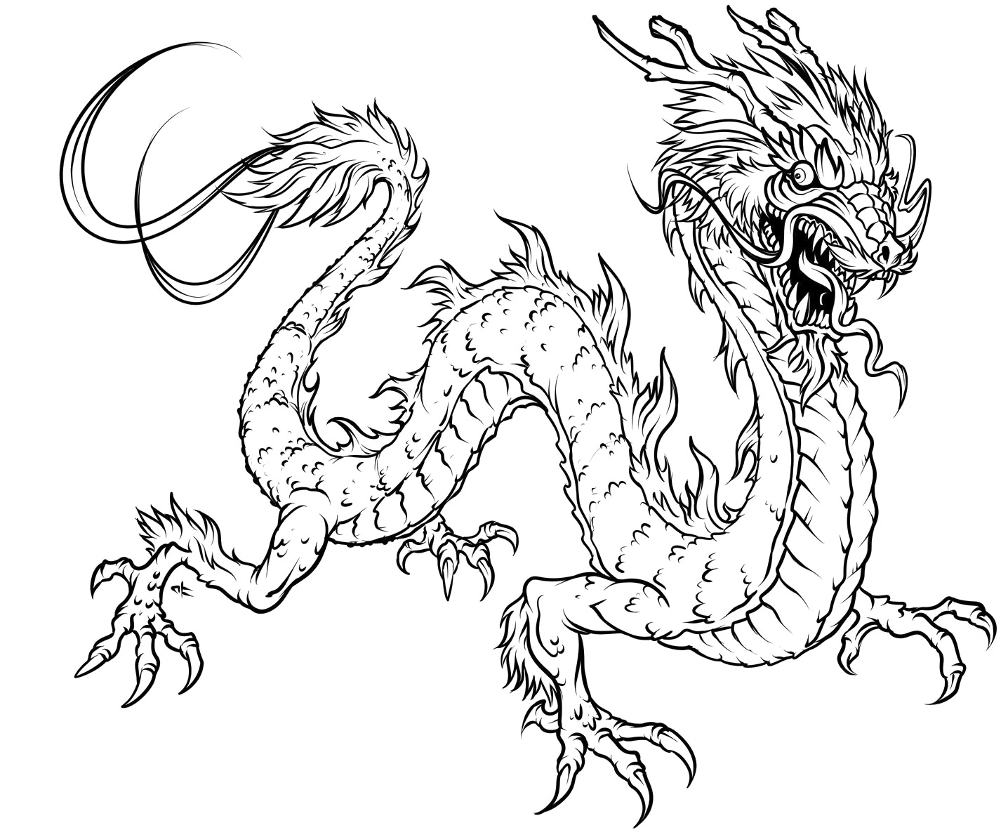 Draon coloring #7, Download drawings