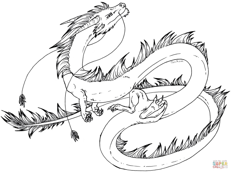 Draon coloring #2, Download drawings