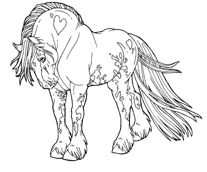 Draught Horse coloring #1, Download drawings