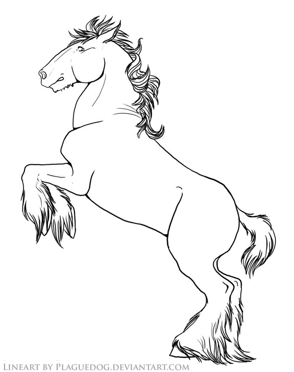 Draught Horse coloring #2, Download drawings