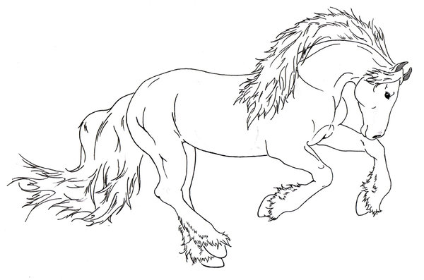 Draught Horse coloring #3, Download drawings