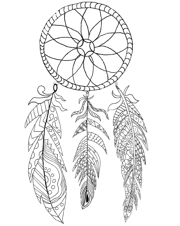 Dreamcatcher coloring #20, Download drawings