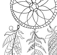 Dreamcatcher coloring #19, Download drawings
