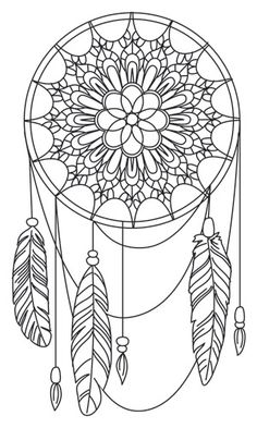 Dreamcatcher coloring #7, Download drawings
