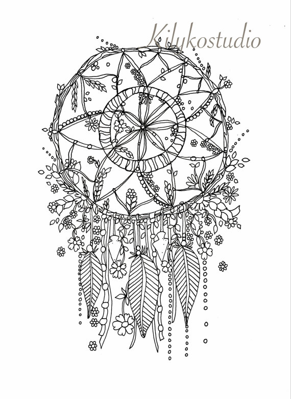 Dreamcatcher coloring #12, Download drawings