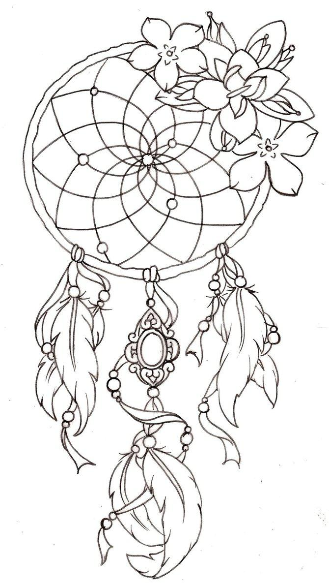 Dreamcatcher coloring #13, Download drawings