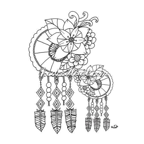 Dreamcatcher coloring #5, Download drawings