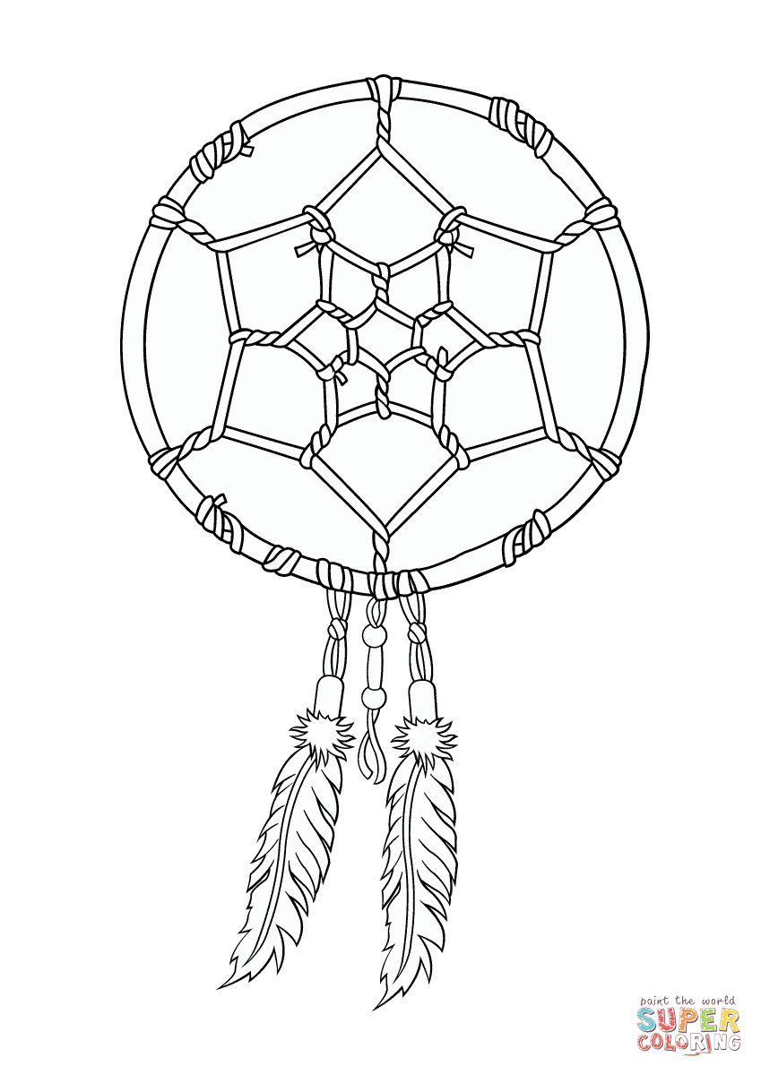 Dreamcatcher coloring #16, Download drawings