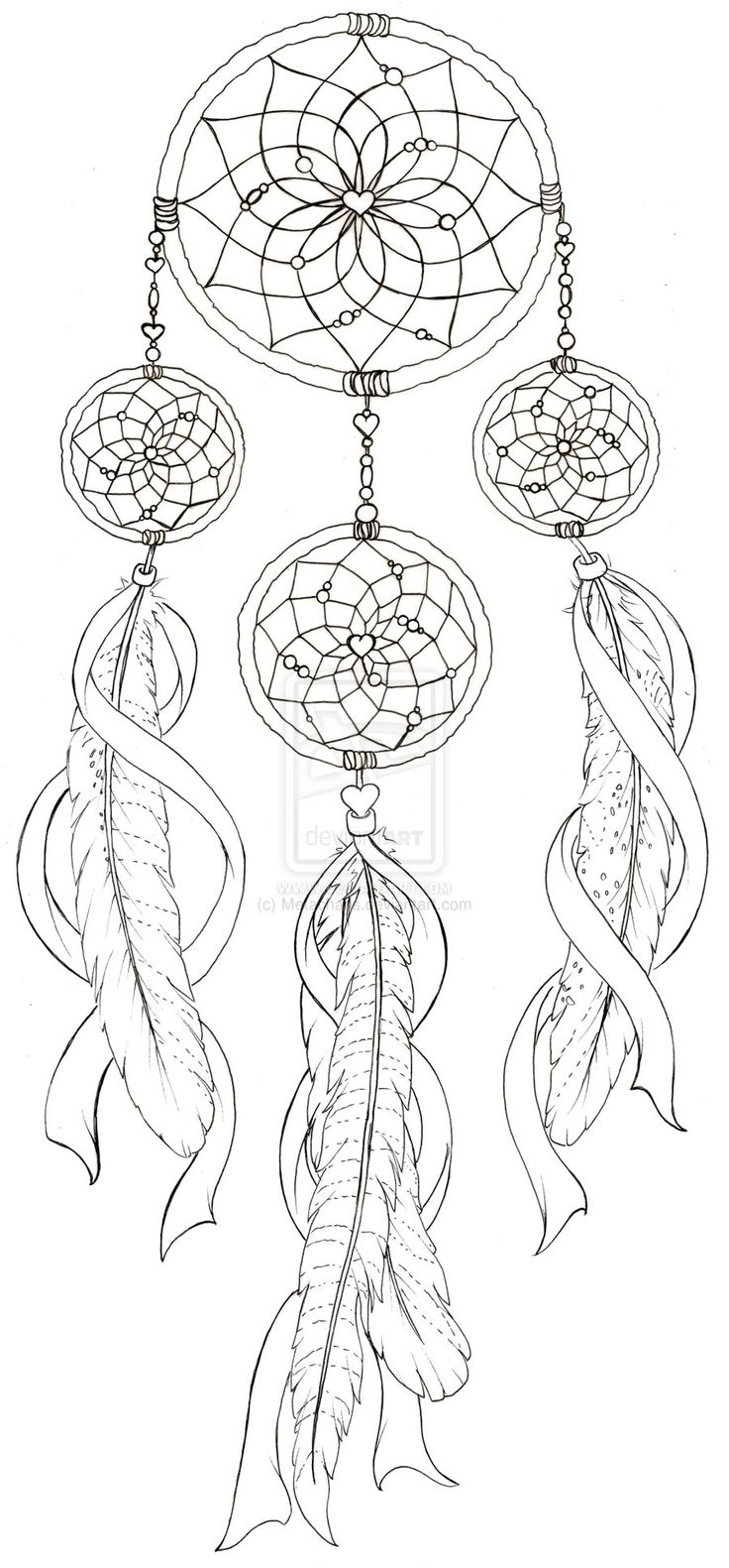 Dreamcatcher coloring #11, Download drawings