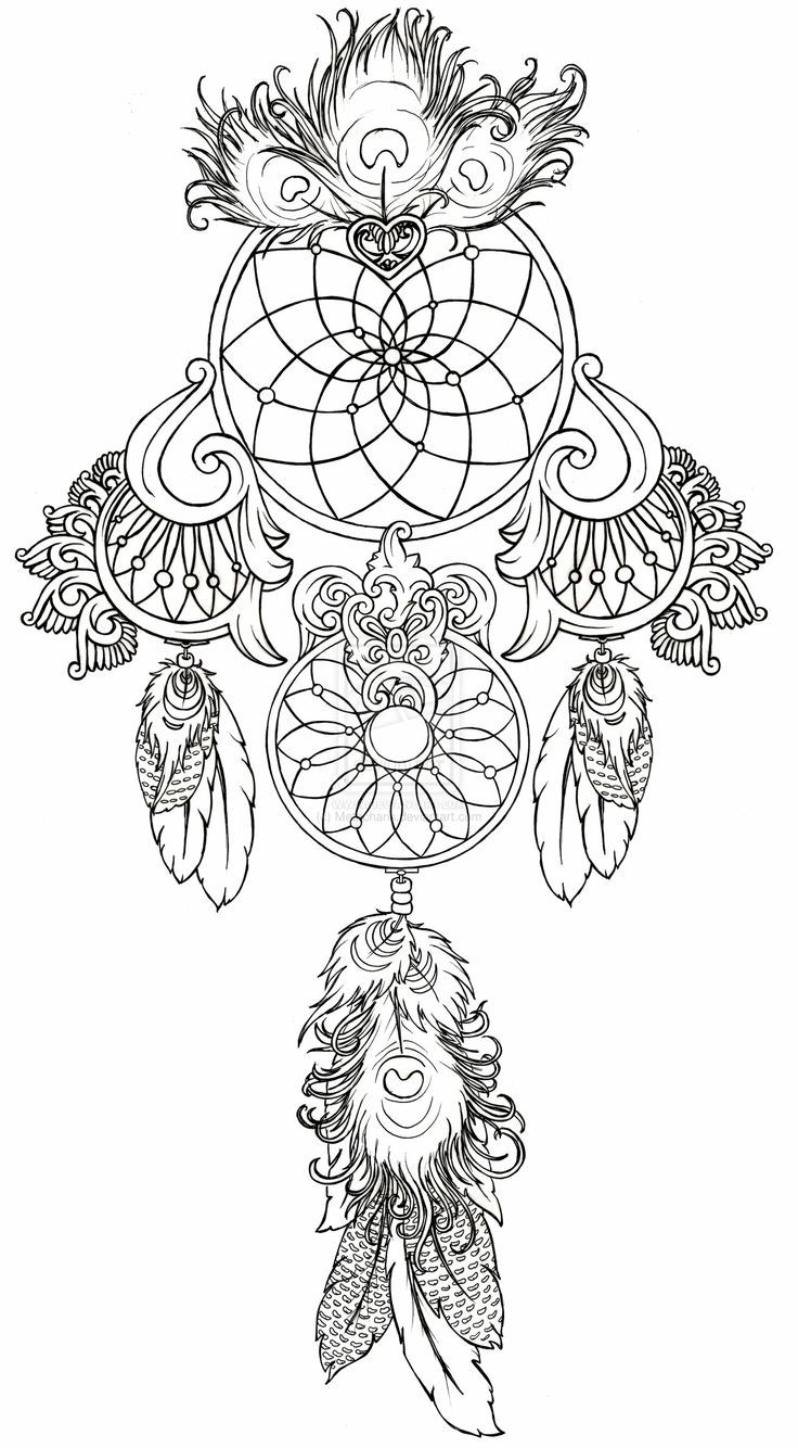 Dreamcatcher coloring #17, Download drawings