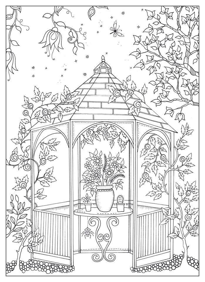 Dreamy Gazebo coloring #20, Download drawings
