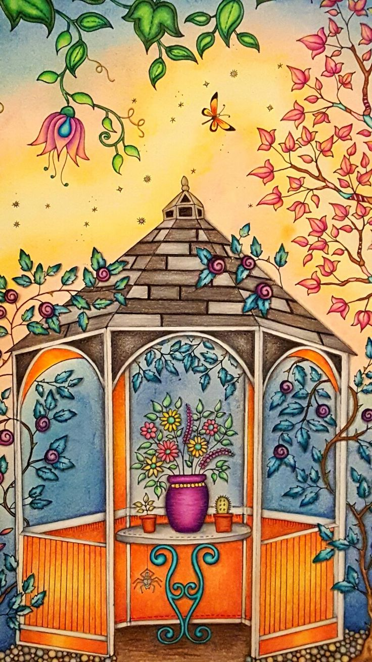Dreamy Gazebo coloring #4, Download drawings