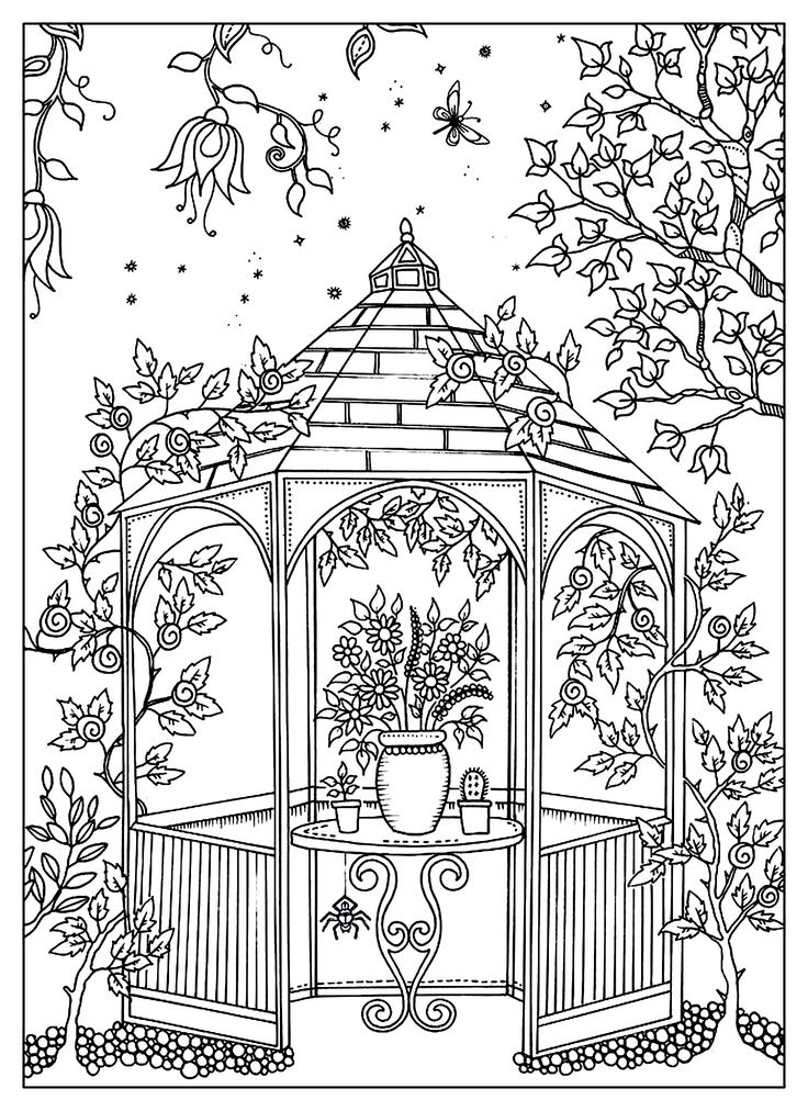 Dreamy Gazebo coloring #17, Download drawings