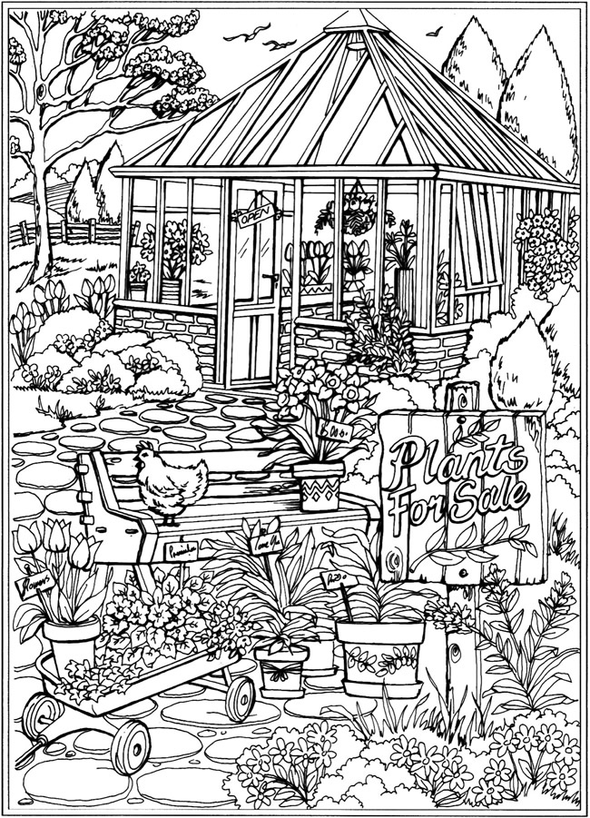 Dreamy Gazebo coloring #16, Download drawings