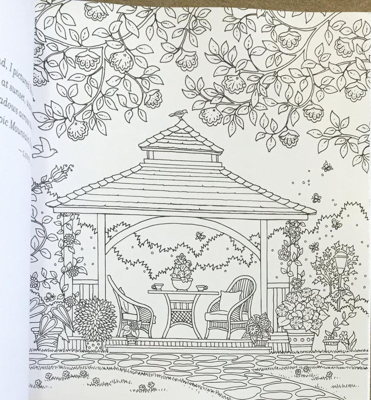 Dreamy Gazebo coloring #9, Download drawings