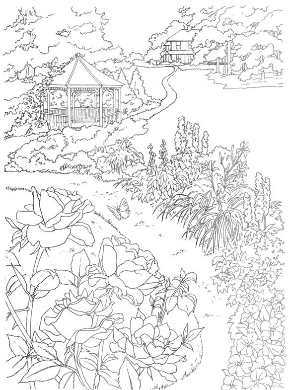 Dreamy Gazebo coloring #14, Download drawings