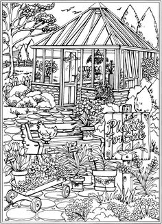 Dreamy Gazebo coloring #19, Download drawings