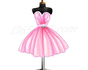 Pink Dress clipart #8, Download drawings