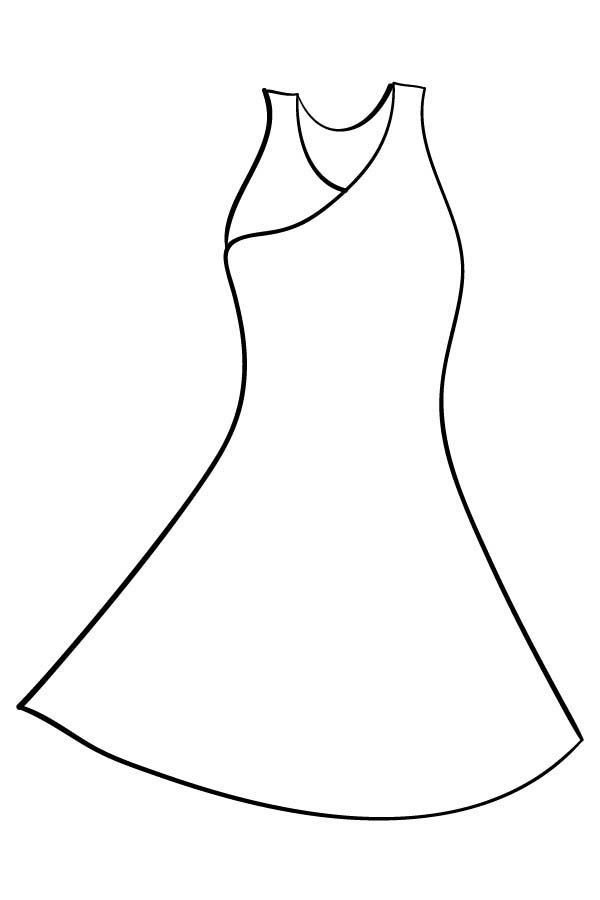 Dress coloring #4, Download drawings
