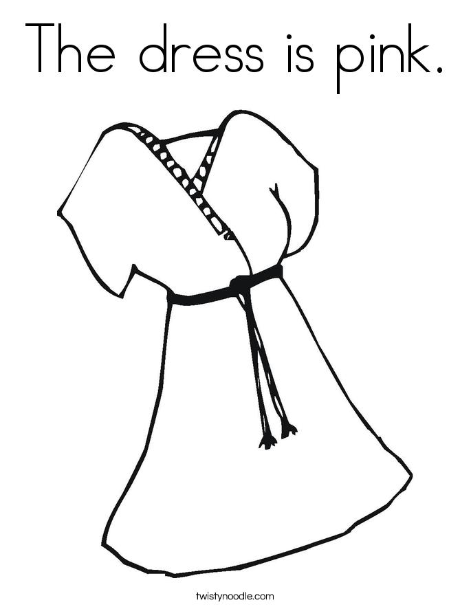 Dress coloring #13, Download drawings