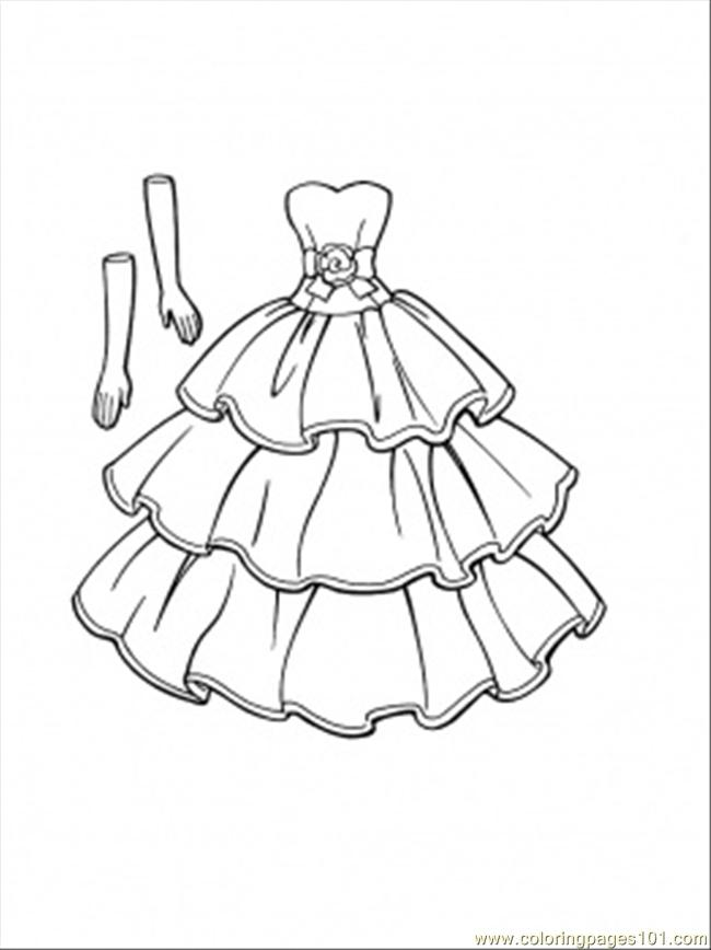 Dress coloring #8, Download drawings