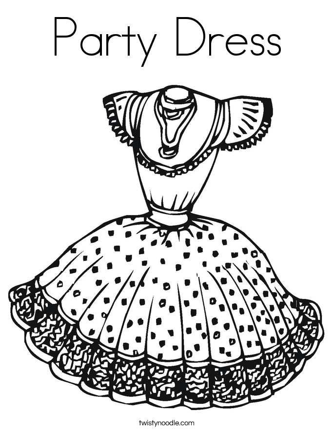 Dress coloring #9, Download drawings