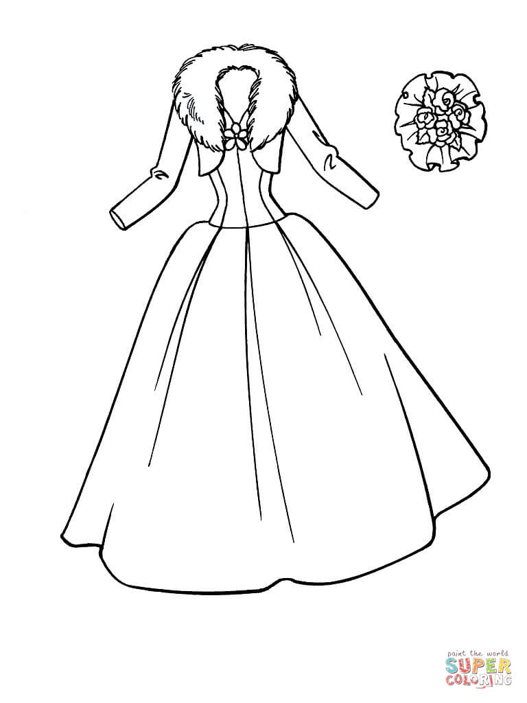 Dress coloring #2, Download drawings