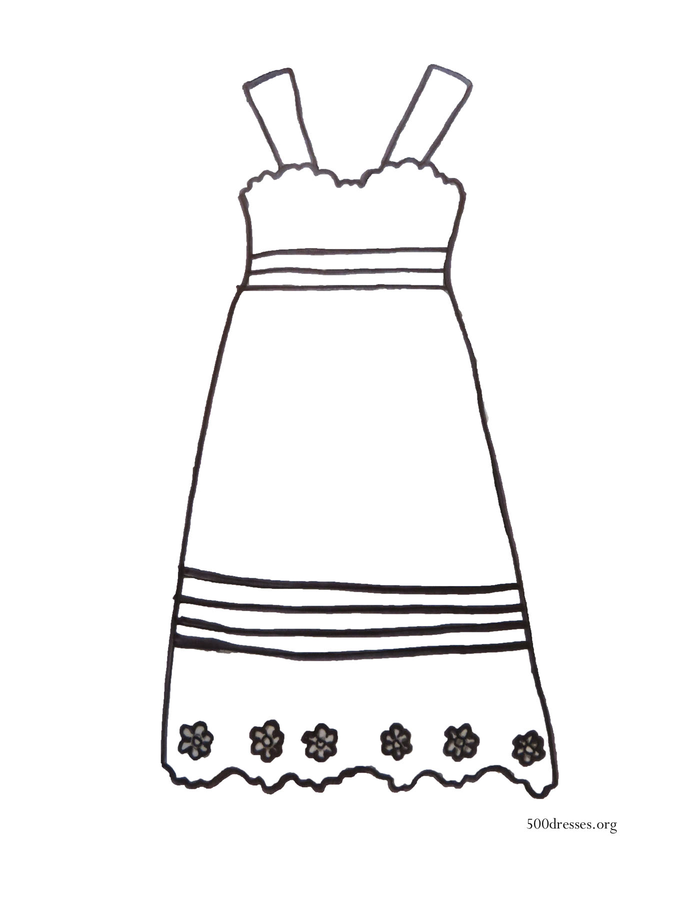 Dress coloring #1, Download drawings
