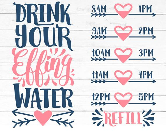 drink your effing water svg #1017, Download drawings