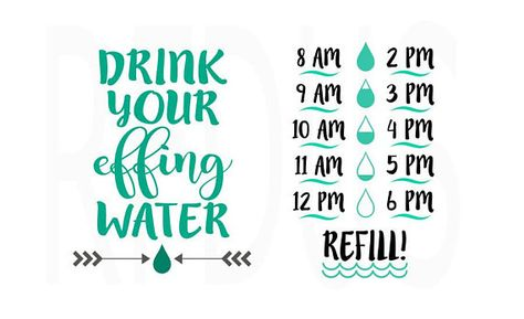 drink your effing water svg #1011, Download drawings