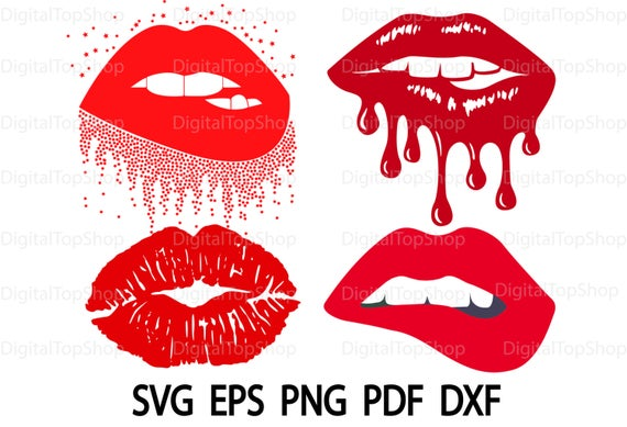 dripping lips svg #1022, Download drawings