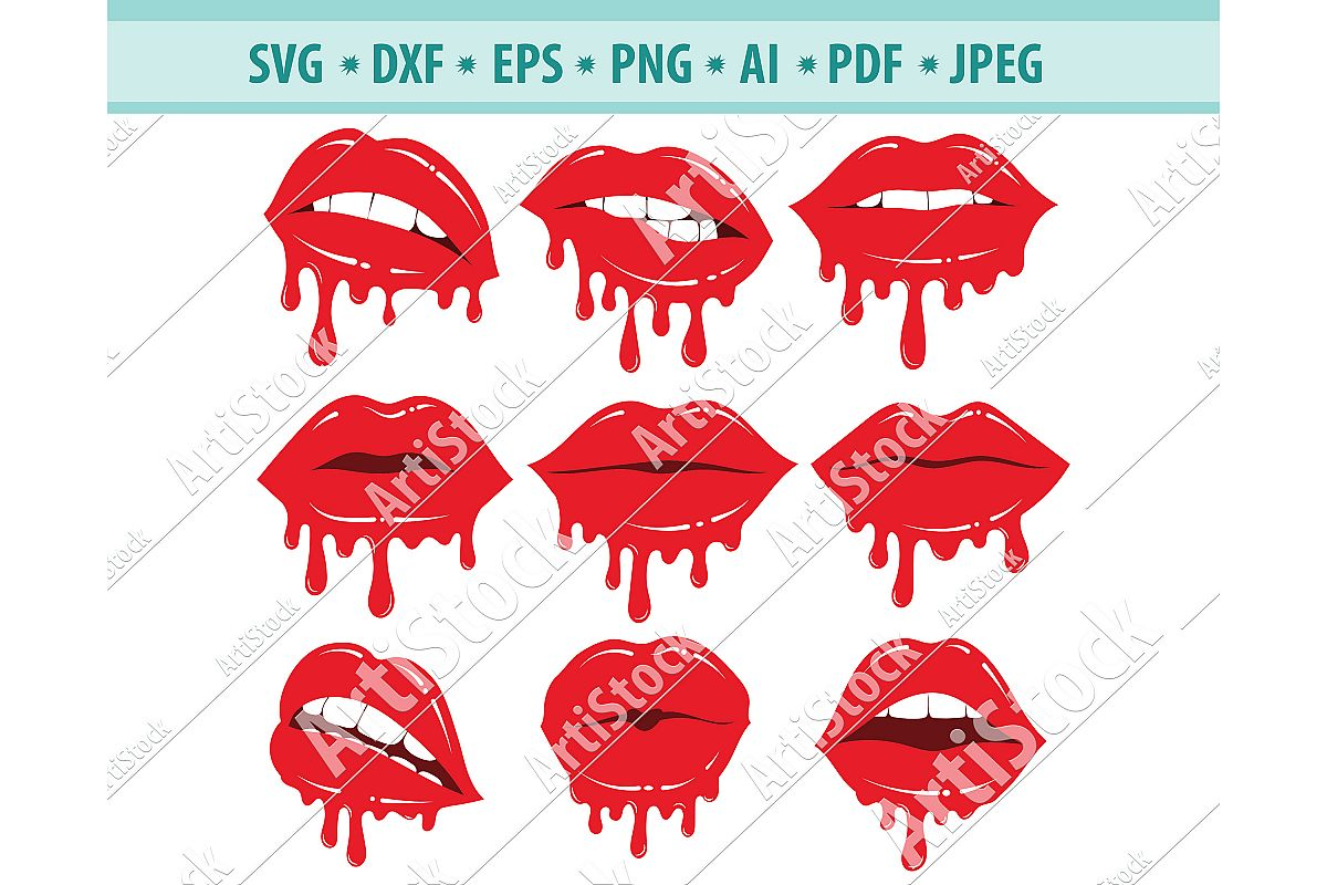 dripping lips svg #1026, Download drawings