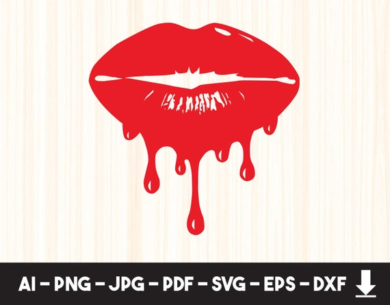 dripping lips svg #1024, Download drawings