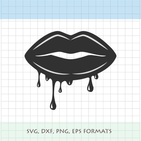 dripping lips svg #1027, Download drawings
