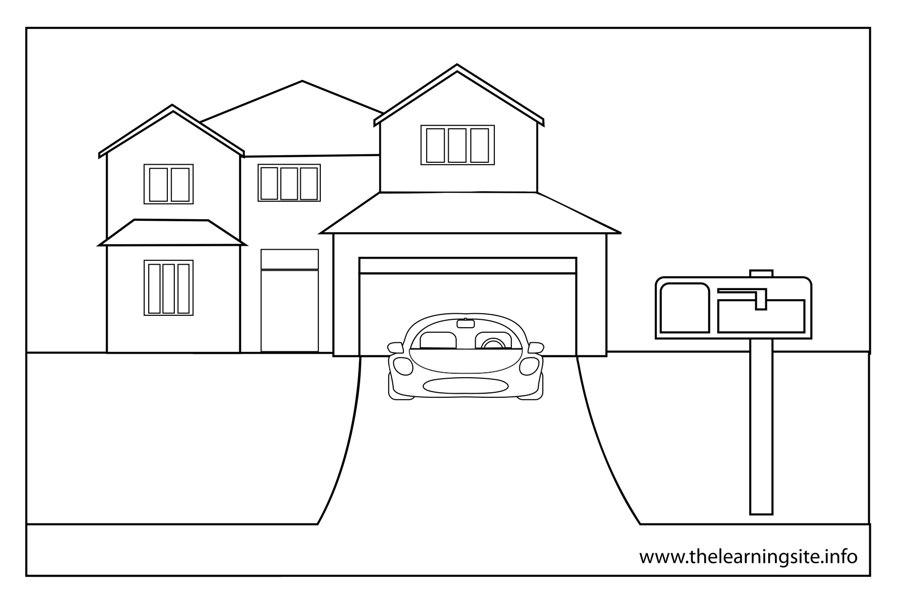 Driveway coloring #9, Download drawings
