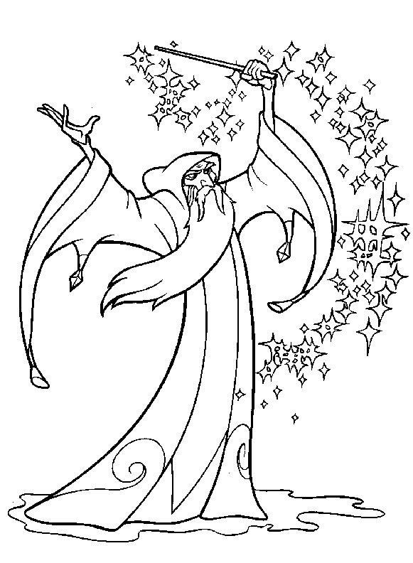 Druid coloring #15, Download drawings