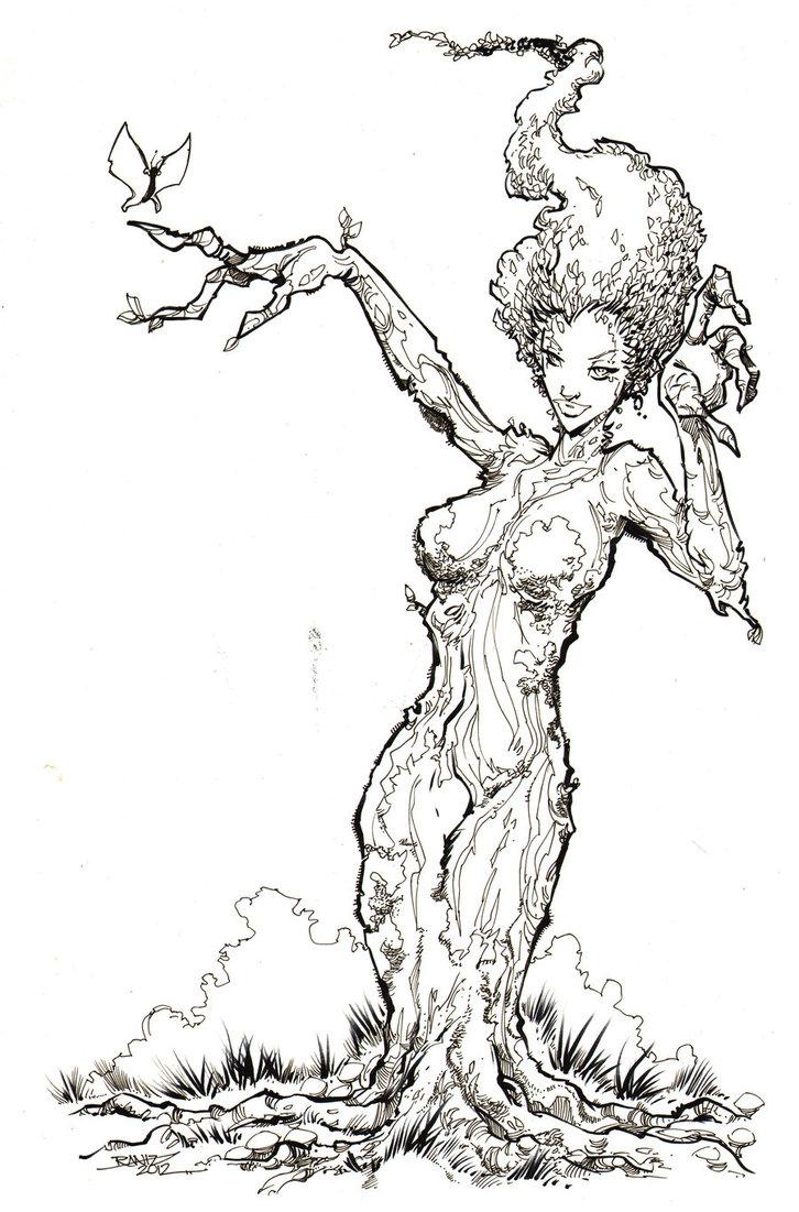 Druid coloring #14, Download drawings
