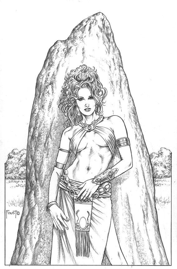 Druid coloring #7, Download drawings