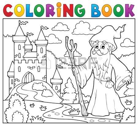 Druid coloring #11, Download drawings