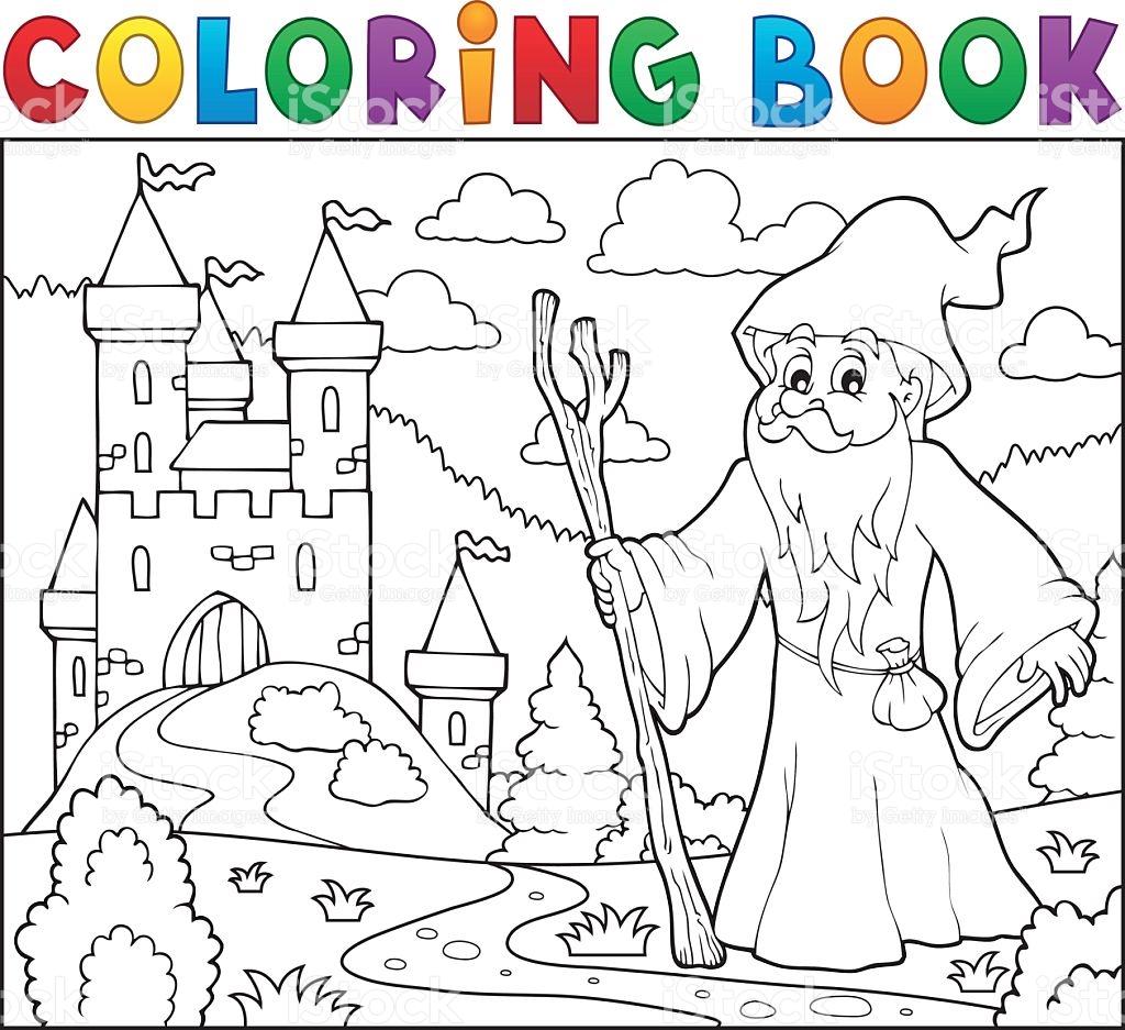 Druid coloring #3, Download drawings