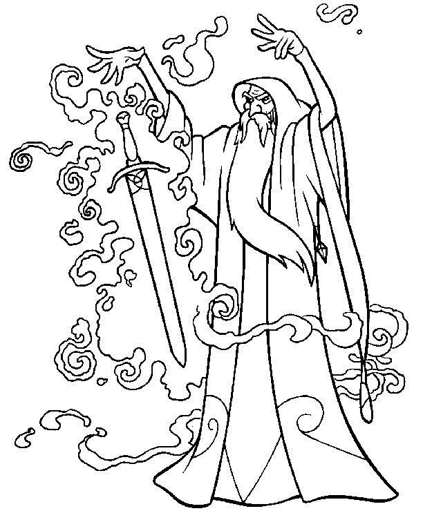 Druid coloring #12, Download drawings
