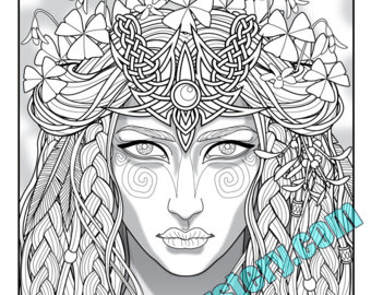 Druid coloring #4, Download drawings